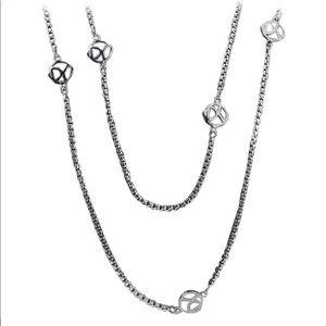 David Yurman sterling silver logo chain